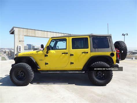 yellow jeep wrangler unlimited 2008 jeep wrangler unlimited jk 4x4 lift lights 35