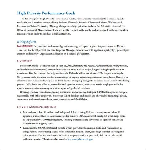 sample performance report  documents   word