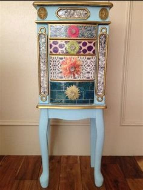 Ultimate Jewelry Armoire Hand Painted On Jewelry Armoire