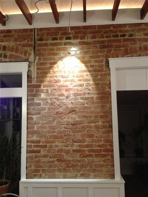 reclaimed brick  wainscoting brick room faux brick
