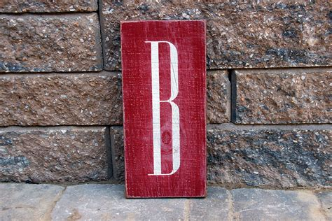 monogram painted wood sign signs  andrea