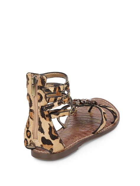 sam edelman giada beaded calf hair sandals lyst