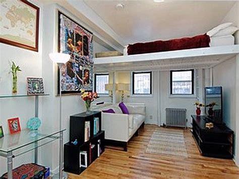 small condo  loft bed home decorating ideas