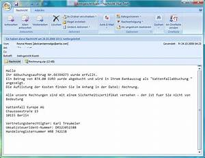 Rechnung Per Email Gültig : spar warnung internetkriminelle schocken mit vattenfall rechnung ~ Themetempest.com Abrechnung