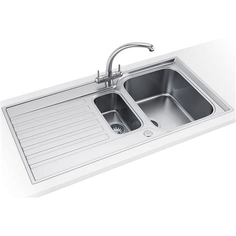 kitchen sink franke franke ascona asx 651 stainless steel 1 5 bowl inset sink 2719