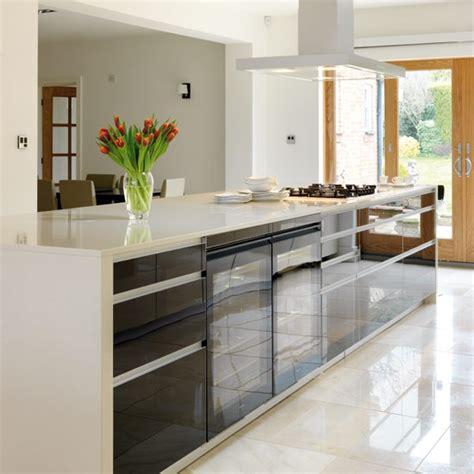 island units for kitchens island unit take a tour around a sleek contemporary kitchen housetohome co uk