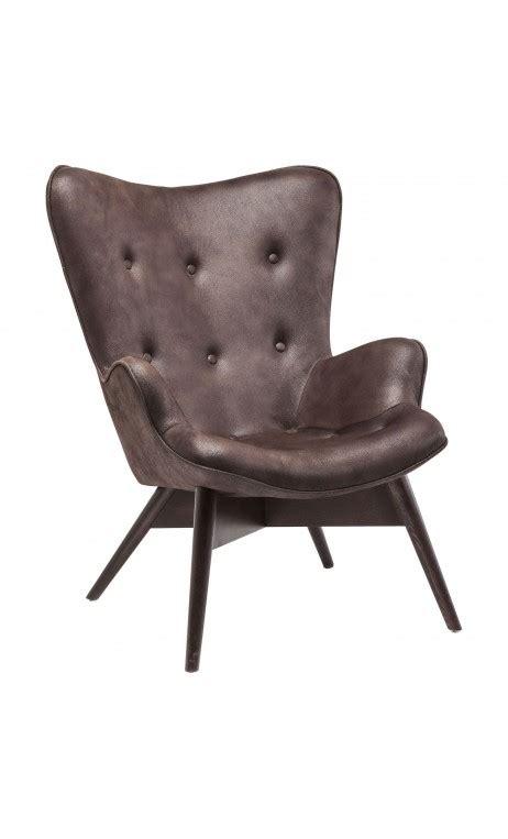 cuir canapé craquelé achetez votre fauteuil marron effet cuir craquelé