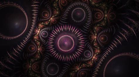 illustration fractal gears steampunk  image