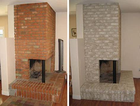 properly paint  brick fireplace