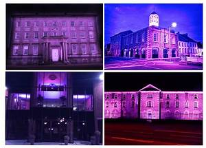 council buildings light up purple for world mental health