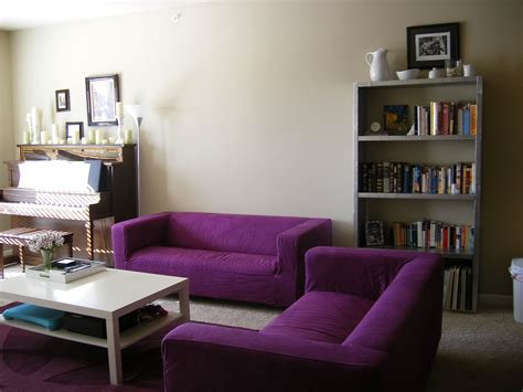 Living Room With Purple Sofa by Ikea Laundry Purple Sofas Living Rooms Purple Sofa Set