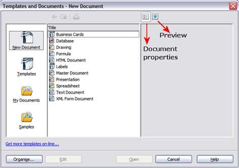 template  create  document apache openoffice wiki