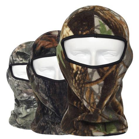 Camo Thermal Fleece Balaclava Outdoor Ski Masks Hoods