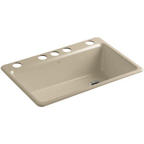 kitchen sink cast iron cast iron kitchen sinks undermount shop kohler woodfield 5674