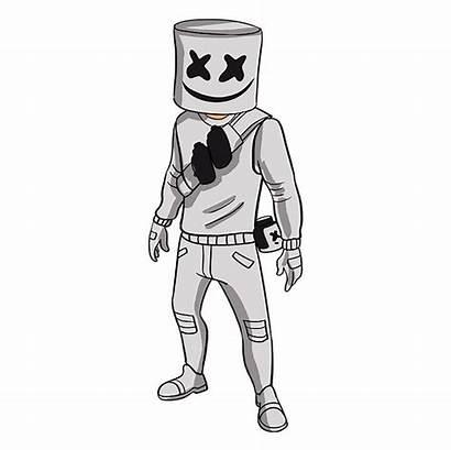 Fortnite Marshmello Draw Drawings Drawing Dj Cool