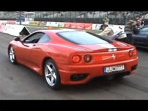 ferrari  modena  maserati  gt drag race youtube
