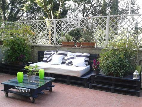 arredare terrazzo attico idee terrazzo fai da te con riciclo creativo idee fai da