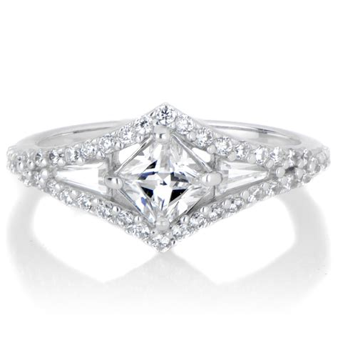 deco engagment rings jesenia s cz deco engagement ring
