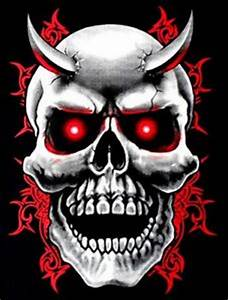 EVIL-DEMON-DEVIL-GOTHIC-HORNED-TRIBAL-WICKED-BIKER-SKULL-T ...