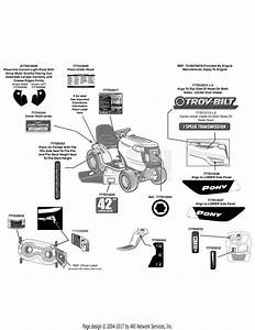 Troy Bilt 13wn77ks011 Pony  2011  Parts Diagram For Label