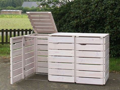 mülltonnenbox holz 3 tonnen 3er m 252 lltonnenbox aus holz f 252 r 120 l 240 l tonnen
