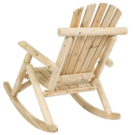 Tractor Supply Log Rocking Chair by Best Choice Products Wood Log Rocking Chair Single Rocker