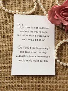 25 50 wedding gift money poem small cards asking for With wedding invitation etiquette asking for money