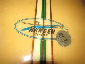 Vintage Hansen Longboard Surfboards