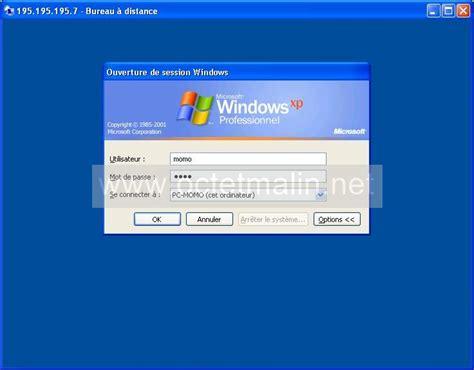 windows xp bureau 224 distance connexion www