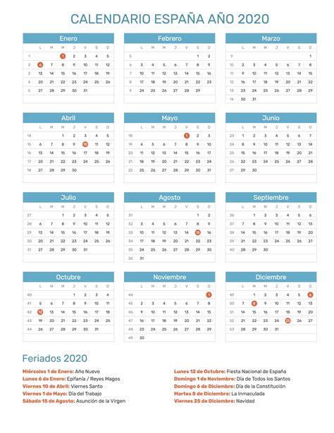 calendario de espana ano feriados