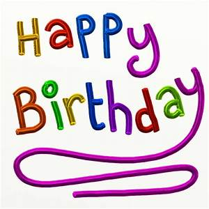 Happy Birthday Text Free Stock Photo - Public Domain Pictures