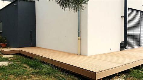 extension ossature bois 30 m2 terrasse en bois composite