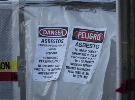 toxic tents  asbestos cleanup crews erected  nyc