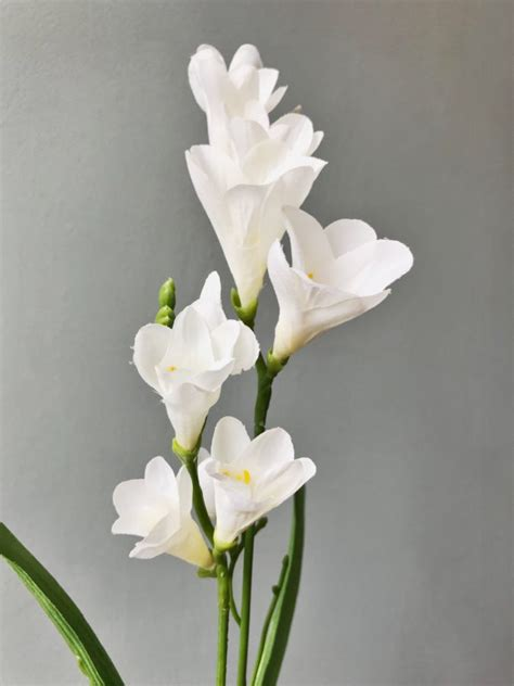 white freesias heavenly homes gardens silk flowers