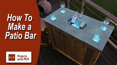 How To Make A Bar by How To Make A Patio Bar Diy Concrete Counter Bar With