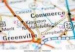 Kingston Texas Usa On Map Stock Photo (Edit Now) 794436427