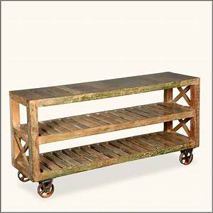Rustic Rolling Bookcase : Doherty House - Build A Rolling