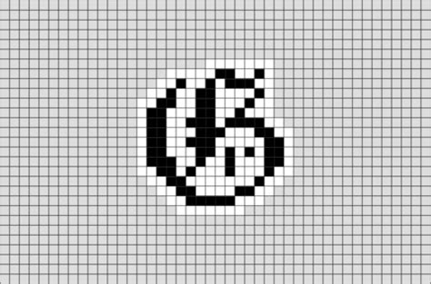 letter  pixel art brik