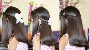 3 Simple & Cute Hairstyles! - YouTube