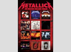 Metallica albums Poster Sold at Europosters