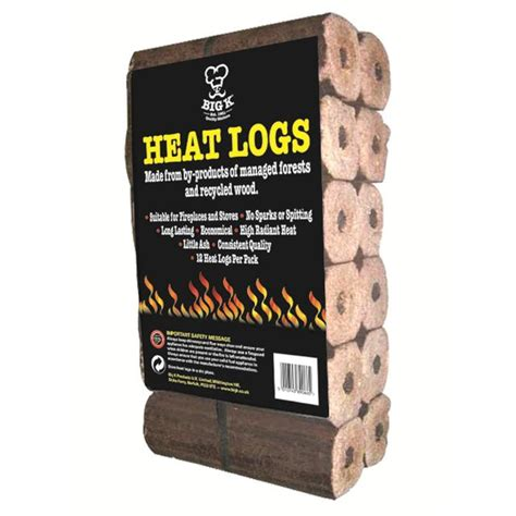 ocado big k heat logs 12 per pack product information