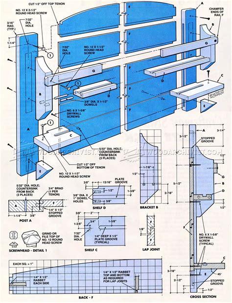 plate rack plans woodarchivist