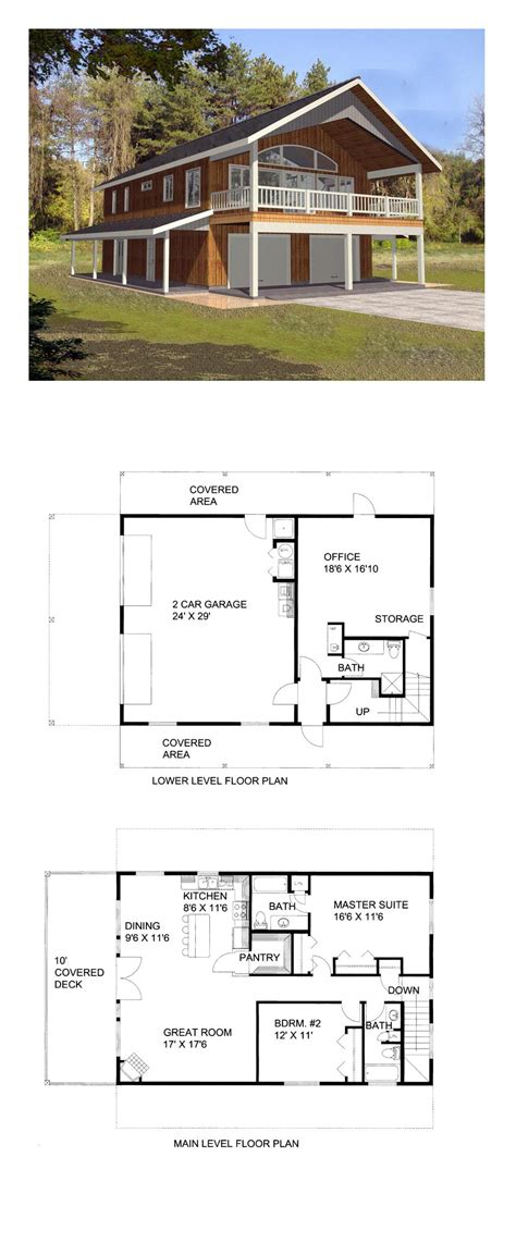 one garage apartment floor plans garage apartment plan 85372 total living area 1901 sq