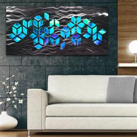 impulse large  abstract geometric design metal