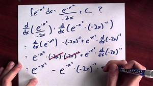 What Is An Antiderivative For E  -x 2