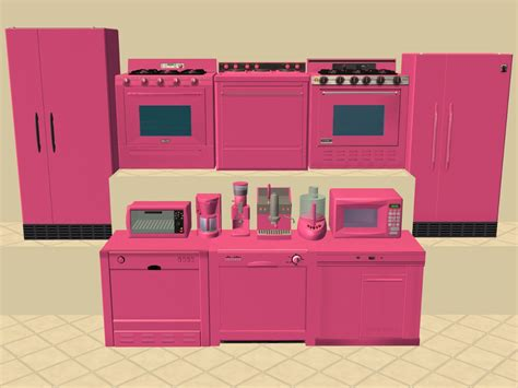 Mod The Sims  More Base Game Kitchen Appliance Recolours