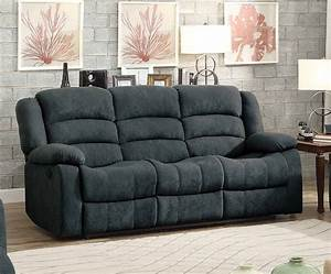 homelegance greenville reclining sofa set blue grey With blue sectional sofa with recliners