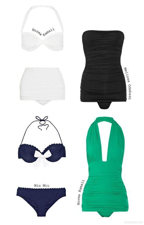 I Love the Green Retro Swimwear