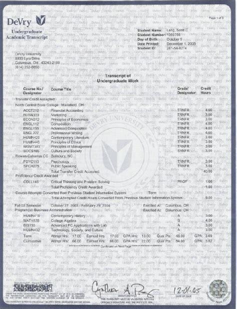 college transcript template shatterlioninfo