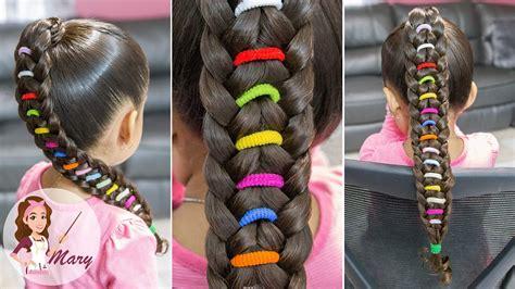 trenza arco 205 ris peinado facil para escuela peinado para ni 209 as rainbow braid